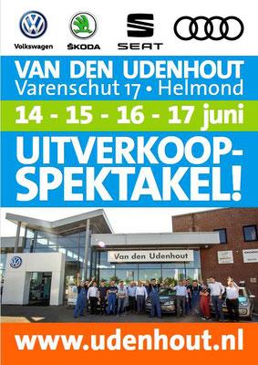 Buitenreclame - Automotive Sales Event - Van den Udenhout Helmond - Volkswagen-Audi-SEAT-ŠKODA - juni 2018 - 35 verkochte auto's in 1 weekend