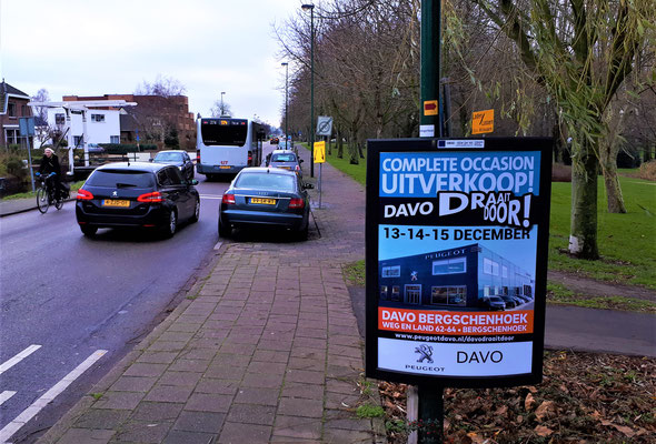Buitenreclame - 2-signs - Automotive Sales Event - DAVO Bergschenhoek - Peugeot - december 2018