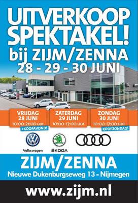 Buitenreclame - Automotive Sales Event - ZIJM/Zenna Nijmegen - 73 verkochte auto's in 1 weekend - juni 2019