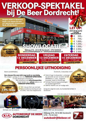 Direct Mailing - Automotive Sales Event - Autobedrijf De Beer Dordrecht - Kia - december 2019