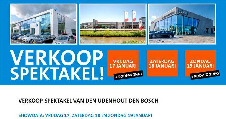 Online bannering - Automotive Sales Event - Van den Udenhout Den Bosch - Volkswagen-Audi-SEAT-ŠKODA-Volkswagen Bedrijfswagens- januari 2020 - 88 verkochte auto's in 1 weekend