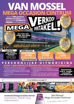 Direct Mailing - Automotive Sales Event - Van Mossel Automotive Groep Tilburg - mei-juni 2019 - 90 verkochte auto's in 1 weekend