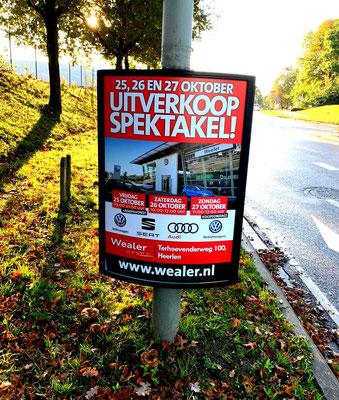 Buitenreclame Automotive Sales Event - WEALER Heerlen - Volkswagen-Audi-SEAT-ŠKODA - 59 verkochte auto's in 1 weekend - oktober 2019