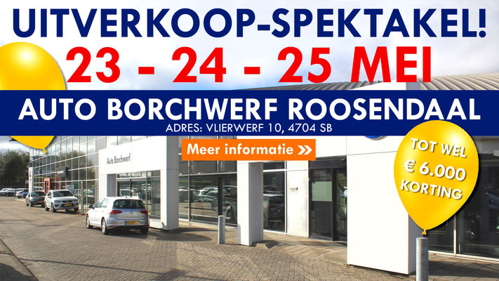 Online bannering - Automotive Sales Event - Auto Borchwerf Roosendaal - Volkswagen-Audi-SEAT-ŠKODA - 96 verkochte auto's in 1 weekend - mei 2019