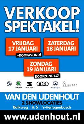 Buitenreclame - Automotive Sales Event - Van den Udenhout Den Bosch - Volkswagen-Audi-SEAT-ŠKODA-Volkswagen Bedrijfswagens- januari 2020 - 88 verkochte auto's in 1 weekend