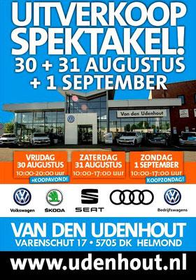 Buitenreclame - Automotive Sales Event - Van den Udenhout Helmond - Volkswagen-Audi-SEAT-ŠKODA - augustus 2019 - 36 verkochte auto's in 1 weekend