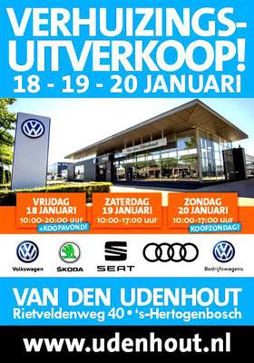 Buitenreclame - Automotive Sales Event - Van den Udenhout Den Bosch - Volkswagen-Audi-SEAT-ŠKODA - januari 2019 - 76 verkochte auto's in 1 weekend
