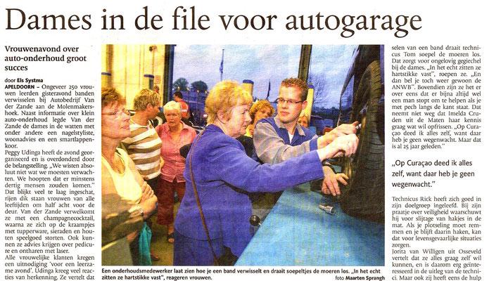 Automotive Sales Event - Mazda Van der Zande -Apeldoorn - artikel in Apeldoorns Stadsblad
