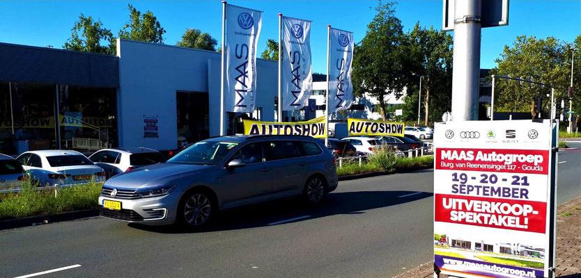 Buitenreclame - Driehoeksborden - Automotive Sales Event - MAAS Autogroep Gouda - Volkswagen-Audi-SEAT-ŠKODA - september 2019