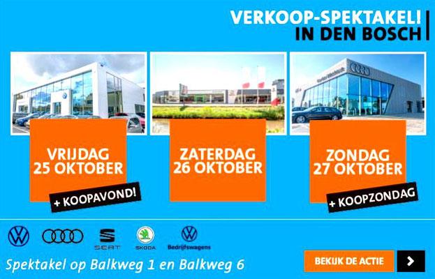 Online bannering - Automotive Sales Event - Van den Udenhout Den Bosch - Volkswagen-Audi-SEAT-ŠKODA - okober 2019