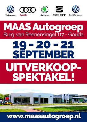 Buitenreclame - Automotive Sales Event - MAAS Autogroep Gouda - Volkswagen-Audi-SEAT-ŠKODA - september 2019 - 51 verkochte auto's in 1 weekend