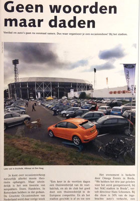 Automotive Sales Event - gezamenlijke Rotterdamse dealers - artikel in automotive magazine