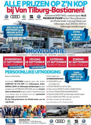 DM - Automotive Sales Event - Van Tilburg-Bastianen Breda - Volkswagen-Audi-SEAT-ŠKODA - september 2018 - 71 verkochte auto's