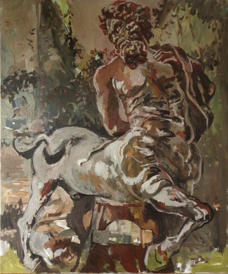 Zentaur, 2016, 120x100 cm, Öl auf Leinwand