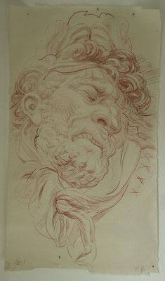 """Nr. 1, aus der Serie """"Arsenal"""", 2016, Mischtechnick auf Kahari Naturpapier, 170x100 cm"""