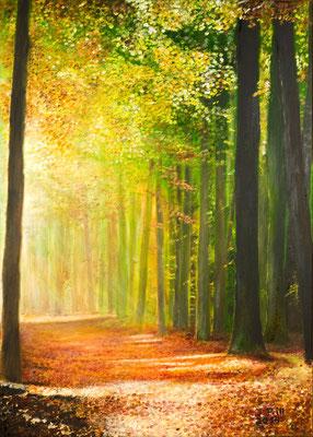 Tageseinbruch, 50 x 70 cm (Öl auf Leinwand) (VERKAUFT)