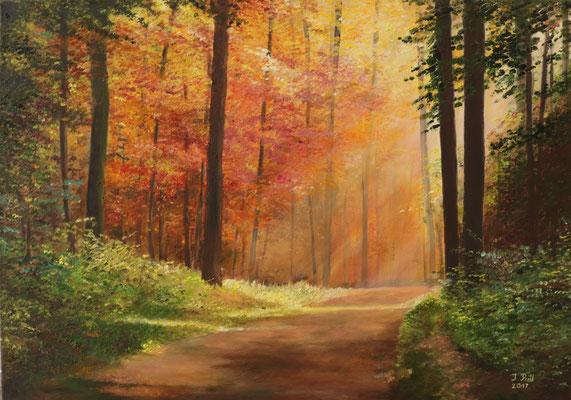 Morgenrot, 50 x 70 cm (Öl auf Leinwand)