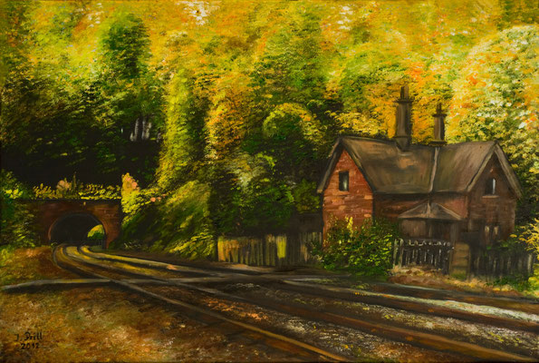 Railway Tunnel, 60 x 40 cm (Oil on canvas) (SOLD)