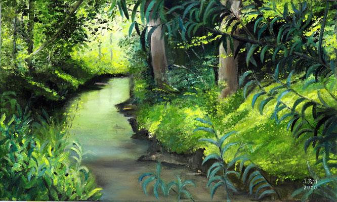 Wasserweg, 40 cm x 30 cm (Öl auf Leinwand)