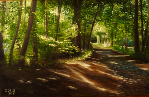 Weg zur Mühle, 60 cm x 40 cm (Öl auf Leinwand) (VERKAUFT)