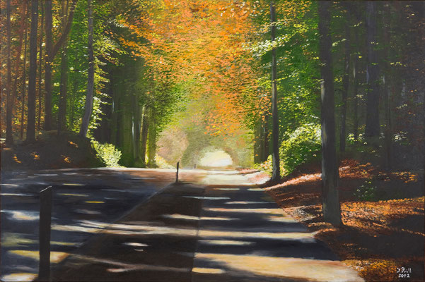 Lichtstrahlen, 120 x 80 cm (Oil on canvas) (SOLD)
