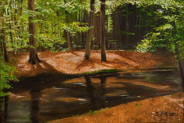 Ruhezeit, 60 x 40 cm  (Öl auf Leinwand) (VERKAUFT)