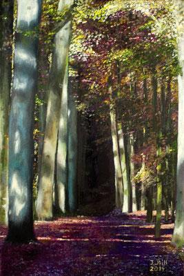 Weg ins Ungewisse, 60 x 40 cm (Oil on canvas)