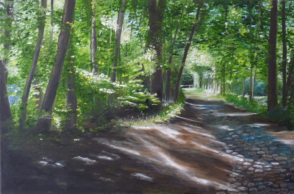Mühlenweg 2 (Oil on canvas) (SOLD)