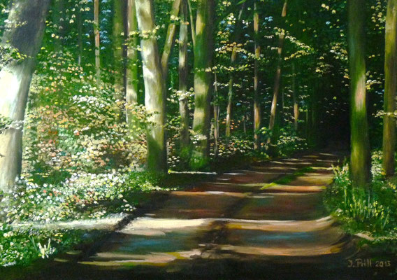 Path to Peace, 50 cm x 70 cm  (Oil on canvas)