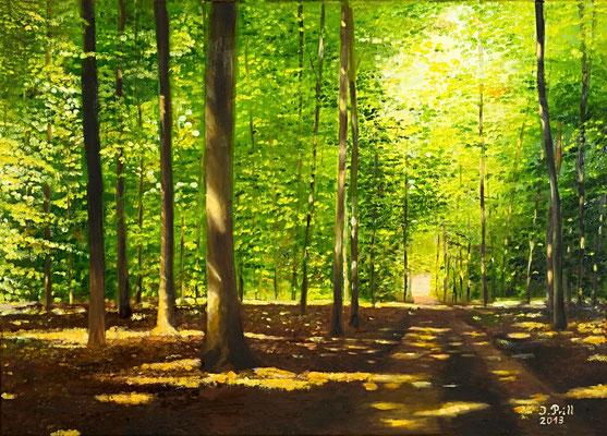 Glück, 50 x 70 cm (Öl auf Leinwand) (VERKAUFT) (Speedpainting bei Youtube - Kanal: Atelier-Prill)