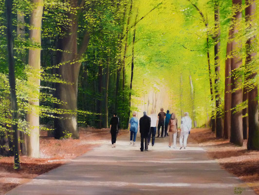 Sonntagsspaziergang, 90 x 70 cm (Öl auf Leinwand)