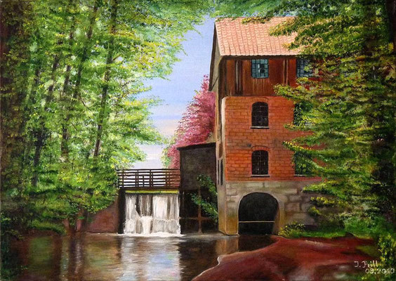 Eitzer Mühle, 70 cm x 50 cm (Öl auf Leinwand) (VERKAUFT)