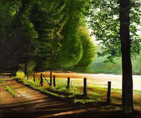 Der Weg ist das Ziel, 50 cm x 70 cm (Öl auf Leinwand) (VERKAUFT)