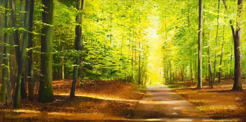Into the Light, 80 x 40 cm (Oil on canvas) (SOLD)