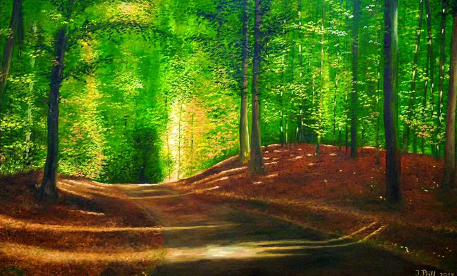 Ahauser Wald (Öl auf Leinwand) (Verkauft)