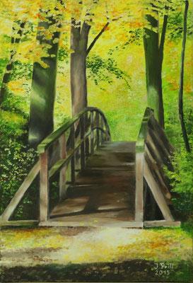 Die Brücke, 60 cm x 40 cm (Öl auf Leinwand)