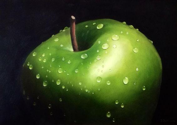 An Apple a Day..., 70 cm x 50 cm x 4 cm (Öl auf Leinwand)