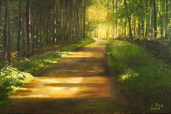 Weg ins Licht II, 60 x 40 cm (Oil on canvas) (SOLD)