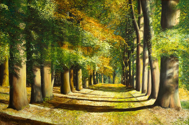 Der Weg ins Glück, 180 x 120 cm (Öl auf Leinwand)