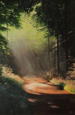 Morgenstrahlen, 100  x 150 cm (Öl auf Leinwand)