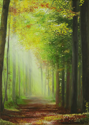 Ray of Hope, 70 cm x 50 cm  (Oil on canvas) (SOLD)