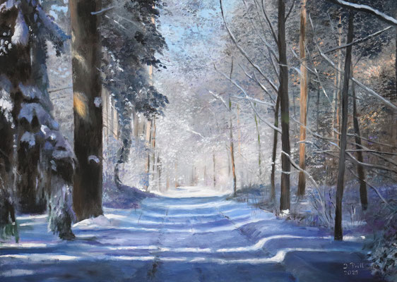 Winter, 50 x 70 cm (Öl auf Leinwand)