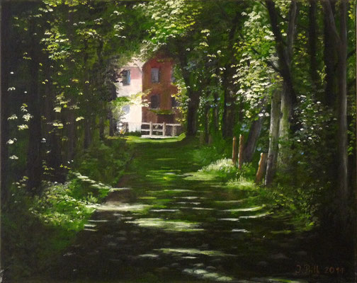 Mühlenweg (Oil on canvas) (SOLD)