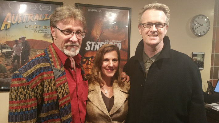 Actor Marshall Hilton, Actor Sonia Curtis and Stressed To Kill Director Mark Savage.