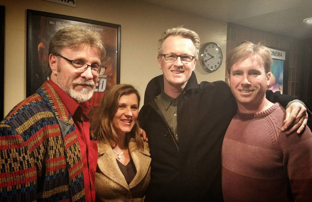 Actor Marshall Hilton, Actor Sonia Curtis, Director Mark Savage and Indie Rights Michael Madison.