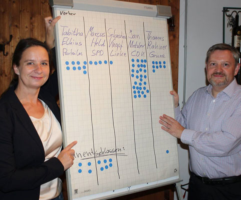 Punkten vor der Veranstaltung (Foto: Bürgerverein Wonnegau e.V.)