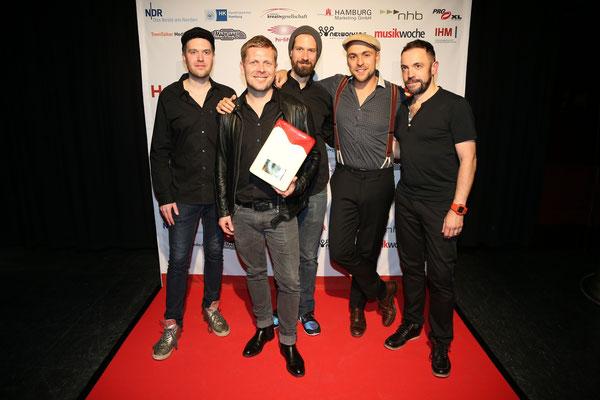 Nils Wülker mit Band und Laudator Max Mutzke