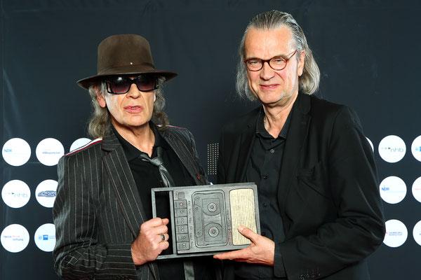 Hamburger Künstler des Jahres: Udo Lindenberg und Laudator Ulrich Waller