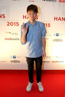 """Lukas Nimscheck, Moderator 2015 und Mitglied der Band """"Deine Freunde"""", Preisträger in 2014"""