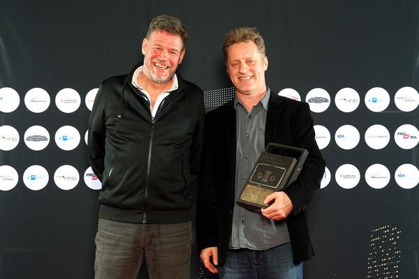 Hamburger Lotse des Jahres: Folkert Koopmans und Laudator Alex Schulz